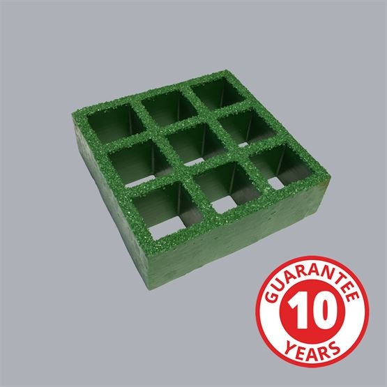 FG03 Standard Grit Grating, 1900x1100x25mm Green Ral 6010